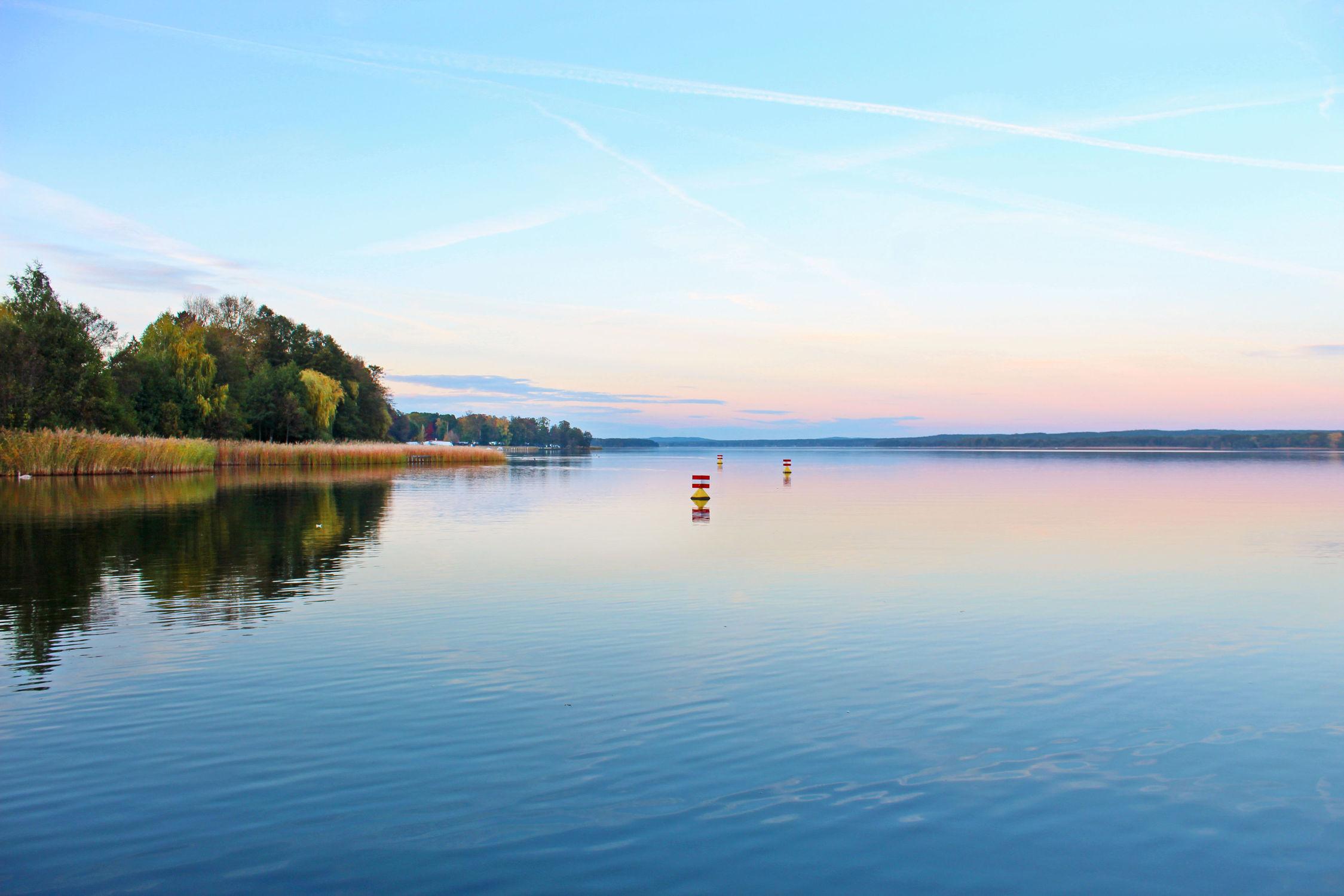 Bild mit Wasser, Gewässer, Sonnenuntergang, Sonnenaufgang, Landschaft, Sunset, Seeblick, See, Scharmützelsee, Spiegelung