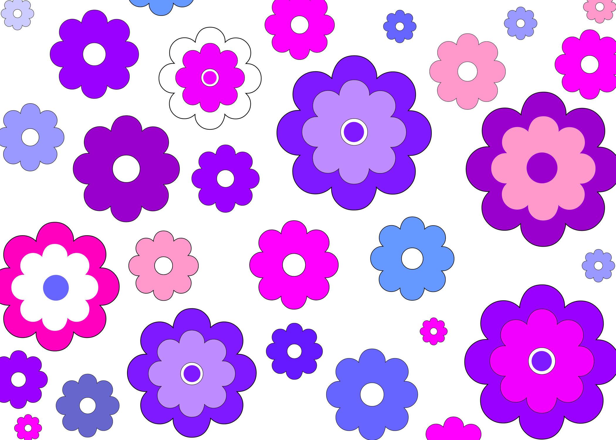 Bild mit Blumen, Zeichnung, Illustration, Blume, Kinderbild, Kinderbilder, Kinderzimmer, Kinder, Muster, Blumenmuster, Kind, Mädchenzimmer