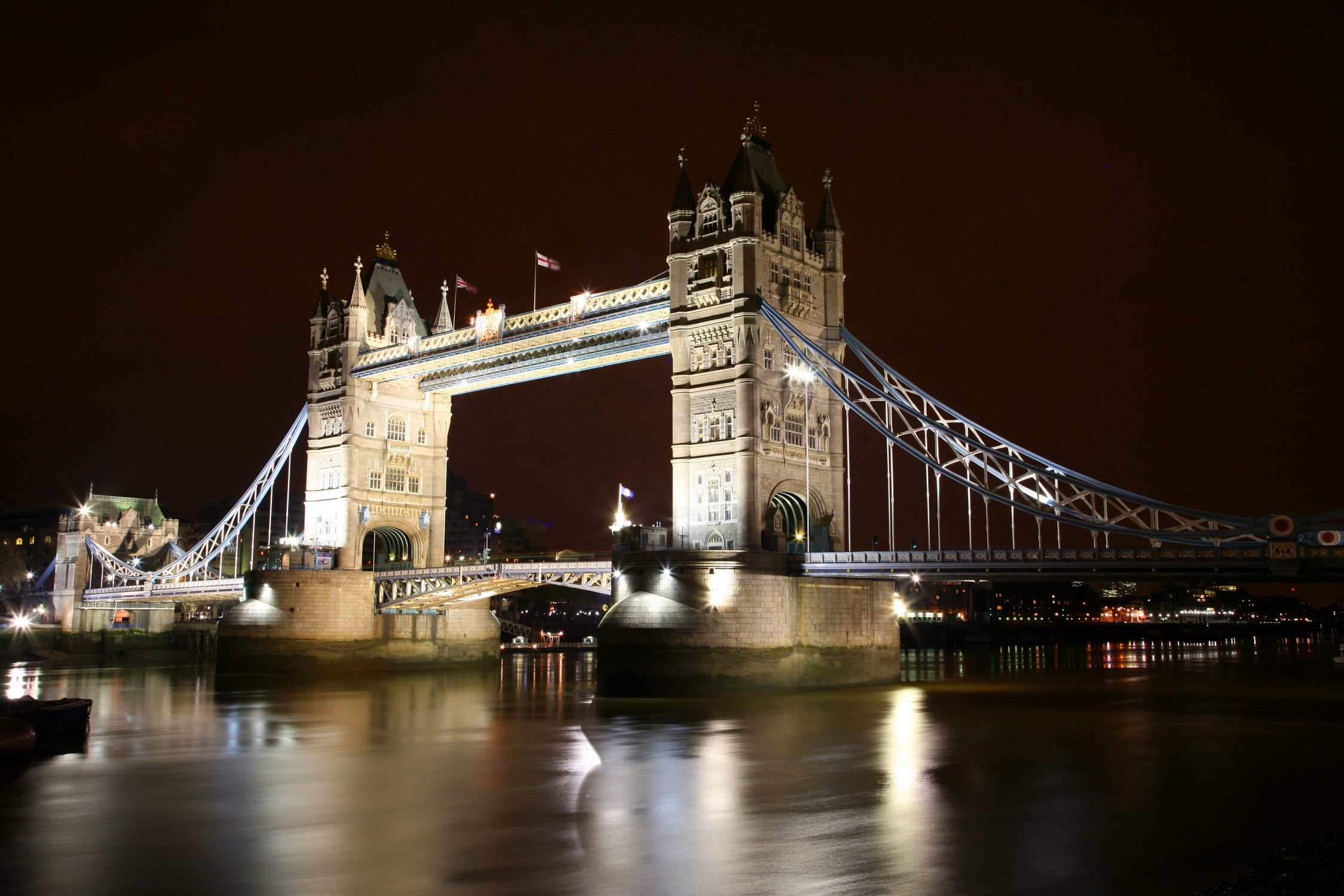 Bild mit Städte, England, London, Stadt, London Bridge, City, Nachtaufnahmen, Nacht, london tower bridge, Skyline, Stadtleben, night