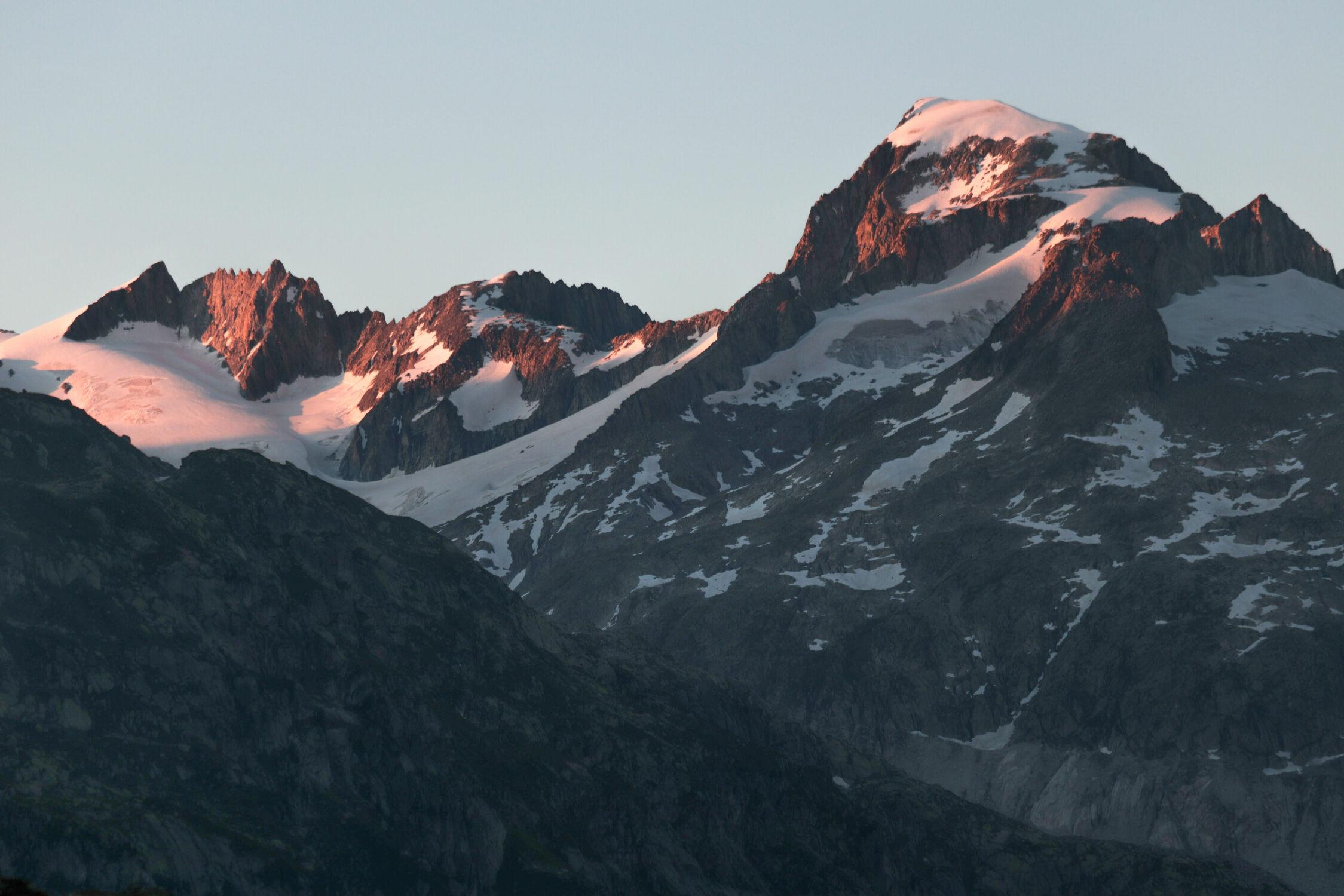 Bild mit Berge, Swiss Mountain, Abendlicht