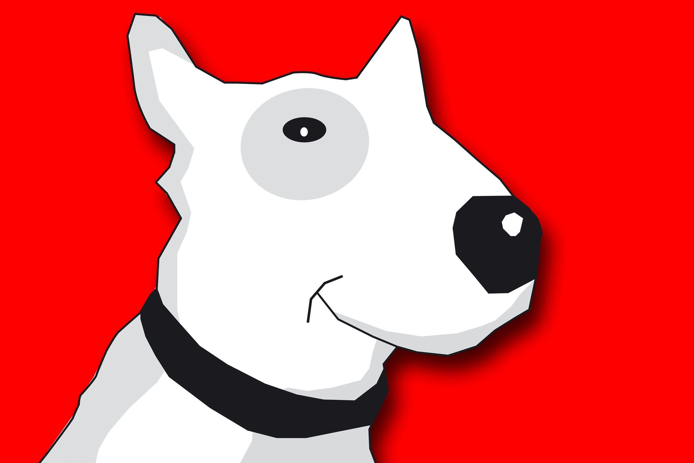 Bild mit Hunde, Hund, Dog, Zeichnung, Illustration, Bullterrier, Hundebild