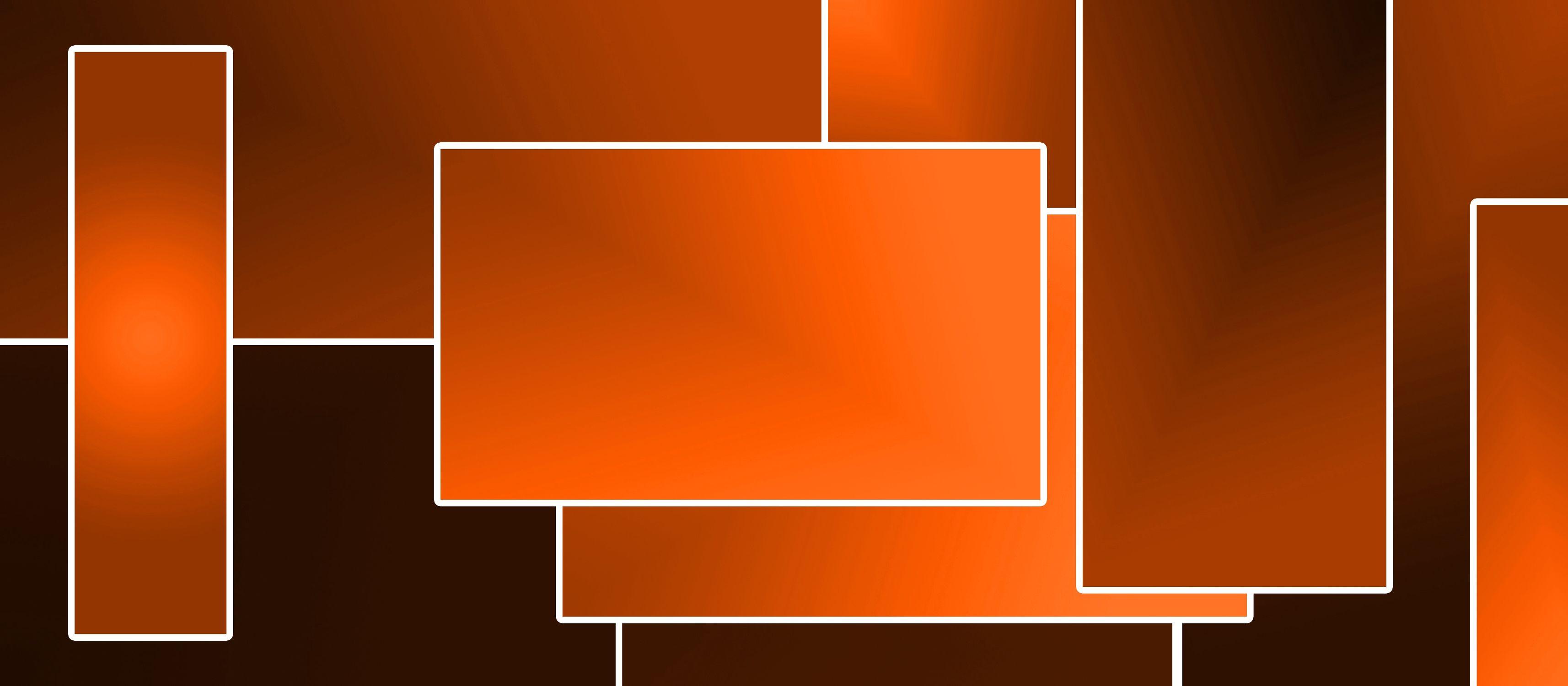 Bild mit Farben, Orange, Abstrakt, Abstrakte Kunst, Retro, 70er