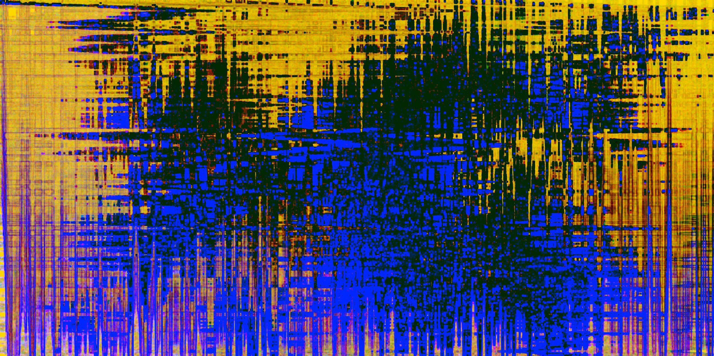 Bild mit Farben, Blau, Abstrakt, Abstrakte Kunst, Abstrakte Malerei