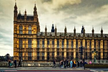 Bild mit Menschen, Himmel, Wolken, England, London, Stadt, Themse, Reisen, Reisefotografie, Großstadt, großbritannien, Touristen, Weltstadt, Westminster, Streetfotografie, UK, Westminster Bridge, Westminster Palace