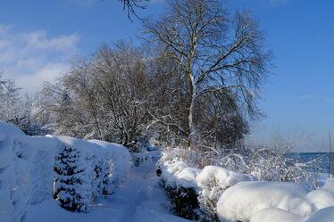 Bild mit Winter, Schnee, Bodensee, Wandern, Ufer