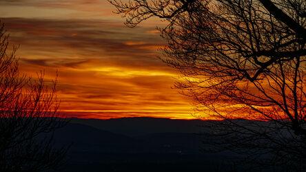 Bild mit Sonnenuntergang, Wolkenhimmel
