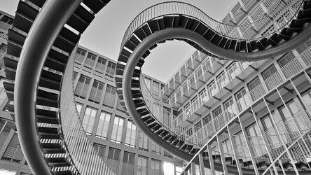Bild mit Architektur, Architektur in Schwarzweiß, Staedte und Architektur, münchen