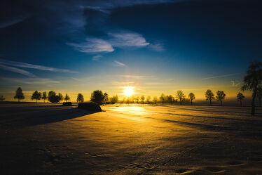 Bild mit Bäume, Schnee, Sonne, winterlandschaft, Schneelandschaften, Landschaften im Winter, Sonnenuntergang/Sonnenaufgang