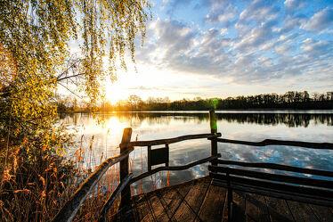 Bild mit Seen, Frühling, Sonne, Sonnenuntergang/Sonnenaufgang