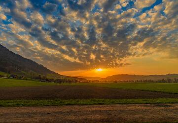 Bild mit Natur, Sonnenuntergang