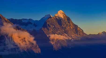 Bild mit Natur, Berge, Sonnenuntergang, Landschaft, Berggipfel