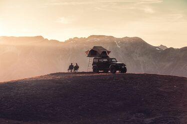 Bild mit Berge, Sonnenuntergang, Alpen, camping