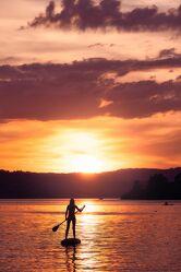 Bild mit Seen, Sonnenuntergang