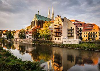 Bild mit Städte,Kirche,Görlitz,Peterskirche,Neisse,Fluss