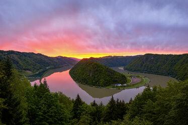 Bild mit Natur, Landschaften, Sonnenuntergang, Österreich, Wald, Fluss, Donau, Haibach