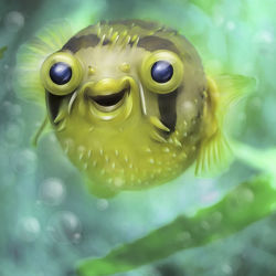 Niedlicher Kugelfisch