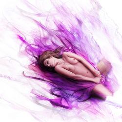 Bild mit Kunst, Magenta, nude, Akt, Erotik, FARBE, Aktmodel, Fotomodel, Aktbild, Aktaufnahme, Aktfoto, Aktfotografie, Purpur