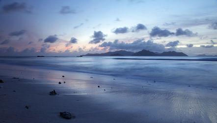 Bild mit Blau, Meer, Landschaft, Insel, Paradies, Nature, Indischer Ozean, la digue, Seychellen