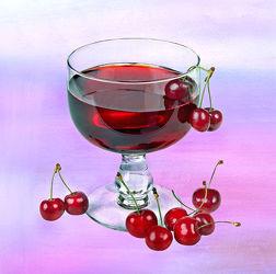 Bild mit Früchte, Glas, Getränke, Frucht, Obst, Küchenbild, Kirsche, Stillleben, Küchenbilder, KITCHEN, getränk, Küche, Küchen, Saft, cherry, Kirschen, Saftglas, KIrschensaft