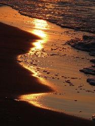 Bild mit Brandung, Sonnenuntergang, Urlaub, Sonnenaufgang, Sonne, Strand, Meer, Sonnenuntergänge, Abend
