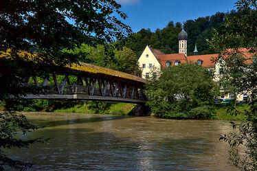 Bild mit Flüsse, Städte, Altstadtbrücke, Stadtansichten, City, stadtansicht, Bayern, Oberbayern, Loisach, Wolfratshausen