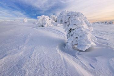 Bild mit Natur, Bäume, Winter, Schnee, Eis, Wälder, Sonnenuntergang, Sonnenaufgang, Wald, Baum, Steine, winterlandschaft, Landschaften im Winter, Landschaften & Stimmungen, Kälte, Frost