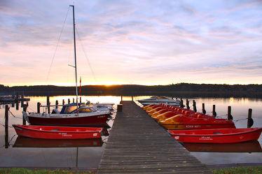 Bootssteg Sonnenaufgang