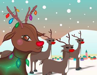 Weihnachten Christmas Rentiere