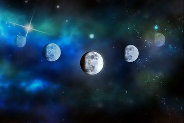 Bild mit Himmel, Mond, Sky, Sterne, mystisch, Planeten, Sternenhimmel, Weltall, Weltraum, gothic, mondbilder
