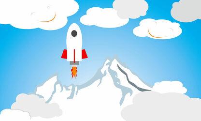 Kinderwelt Astronaut und Berge