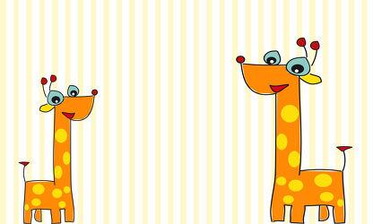 Kinderwelt Tiere Giraffen