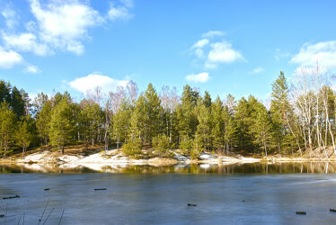 Bild mit Natur, Bäume, Landschaft, See, Ufer, Seeufer, Inselsee, Seebild