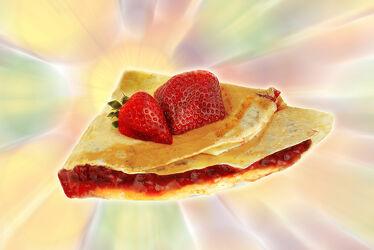 Bild mit Küchenbild, Küchenbilder, Küche, Marmelade, Nachtisch, Dessert, crepe, crepes, pfannkuchen