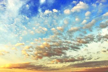 Bild mit Himmel, Wolken, Sonnenuntergang, Wolkenhimmel, Sunset, Sky, Wolken Himmel, cloud, clouds, Sky view