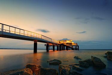 Bild mit Sonnenuntergang, Meerblick, Ostsee, Lübecker Bucht, Sunset, Seebrücke, Timmendorf, Timmendorfer Strand, Seebrücke Timmendorf, Seeschlösschen Timmendorf