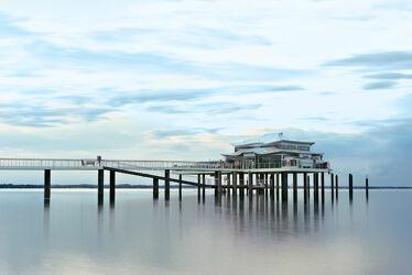 Bild mit Meerblick, Ostsee, Lübecker Bucht, Seebrücke, Timmendorf, Timmendorfer Strand, Seebrücke Timmendorf, Seeschlösschen Timmendorf