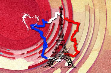 Paris Modern-Art EIFFEL TOWER Leinwand