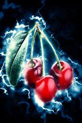 Bild mit Früchte, Malerei, Frucht, Obst, Küchenbild, Kirsche, Stillleben, Küchenbilder, KITCHEN, frisch, Küche, Kochbild, gemalte Früchte, cherry, Kirschen