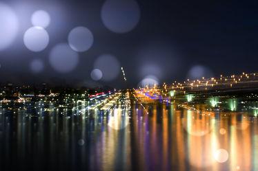 Bild mit Landschaften, Flüsse, Landschaft, Stadt, Landschaftsfotografie, Nachtaufnahmen, Nacht, Fluss, Lichter, Rhein, bonn