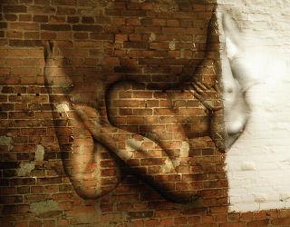 Mauerblümchen Abstrakter Akt