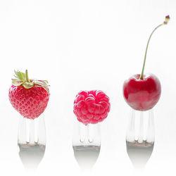 3 Früchte auf 3 Gabeln