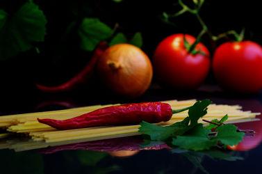 Spagetti italienisches Gericht