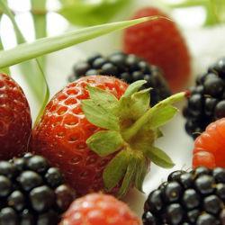 Bild mit Früchte,Lebensmittel,Beeren,Frucht,Obst,Erdbeere,Erdbeeren,Küchenbild,Küchenbild,Himbeere,Himbeeren,Food,Küchenbilder,KITCHEN,Küche,Küche,Küchen,Beere,Brombeeren,Brombeere