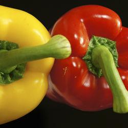 Bild mit Lebensmittel,Gemüse,Küchenbild,Küchenbilder,Küche,Paprika,Paprikas