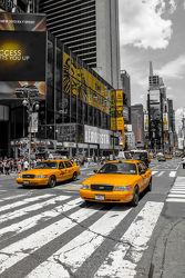 Bild mit New York, Colorkey, Verkehr, wolkenkratzer, Auto, Hochhäuser, taxi, Taxis, NYC, Manhatten, traffic, yellow cap