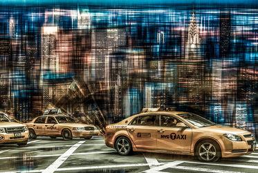 Bild mit Kunst, Stadt, Abstrakt, art, New York, USA, NYC, Manhatten, yellow cap
