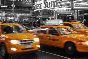 NYC: Yellow Cabs on the Times Square - ck