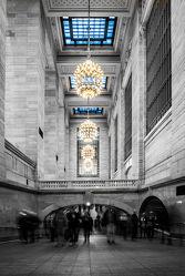 Bild mit Architektur, Straßen, Stadt, urban, New York, New York, monochrom, Staedte und Architektur, USA, VINTAGE, schwarz weiß, metropole, Straße, SW, Manhattan, Brooklyn Bridge, New York City, NYC, traffic, crowd, grand central station, travelling, train