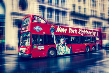 Bild mit New York - abstrakt