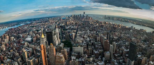 New York from a birds eyes (fisheye)